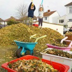 Improving our garden with natural up-cycled resources
