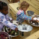 The new mud kitchen at The Priory